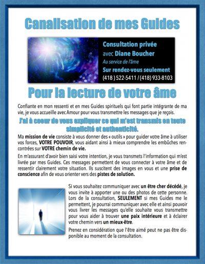1- Consultations avec Diane Boucher Canalisation de l-Ame