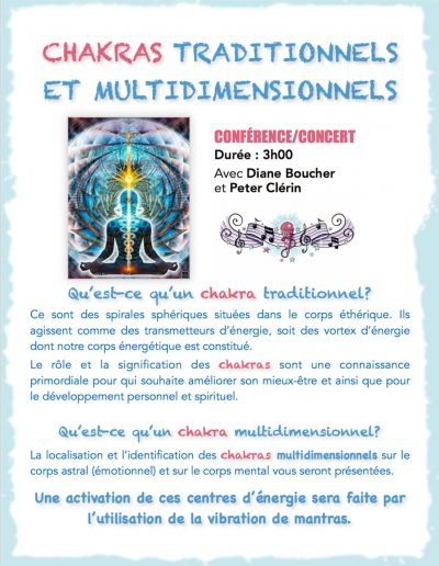 3- Conferences-concerts - Chakras