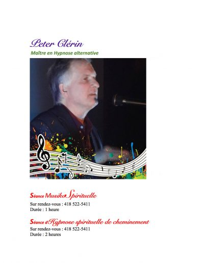 Peter Clerin Maitre en Hypnose alternative